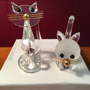 Cat Figurines Glass/Crystal